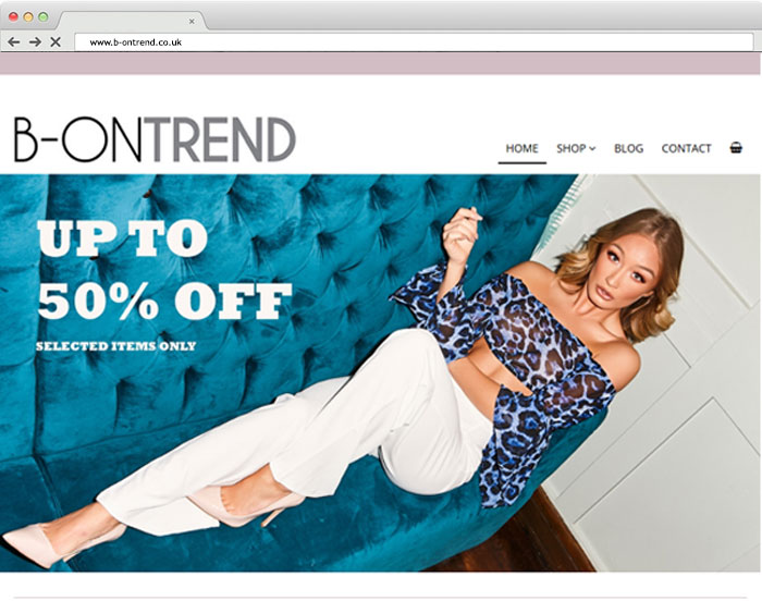 B-OnTrend Web Design Screenshot