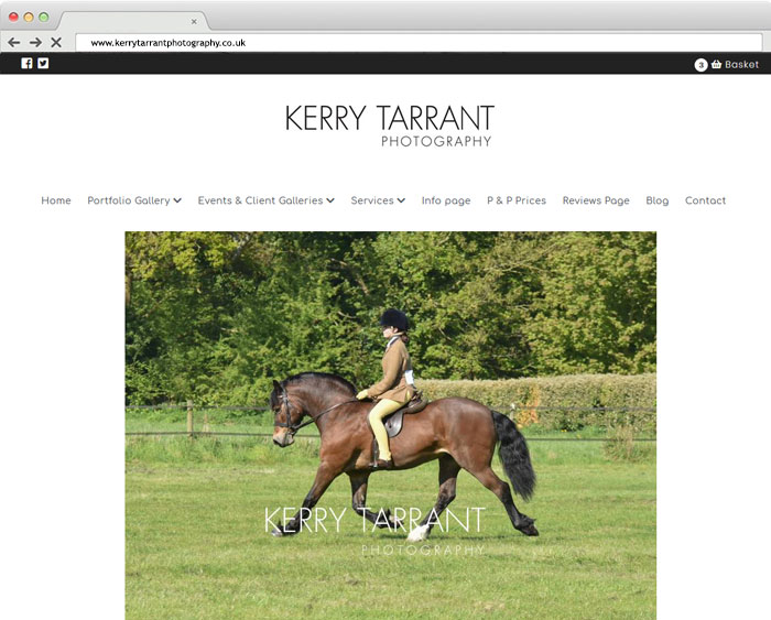 kerry Tarrant Photographers Website Design