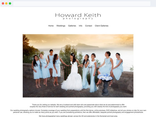 Howard Keith Websites For Photographers Website