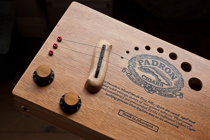 Padron 3 string cigar box guitar