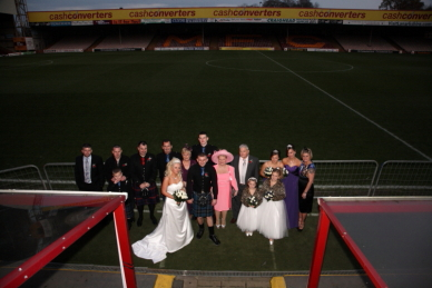 Wedding photography at Fir Park - Motherwell